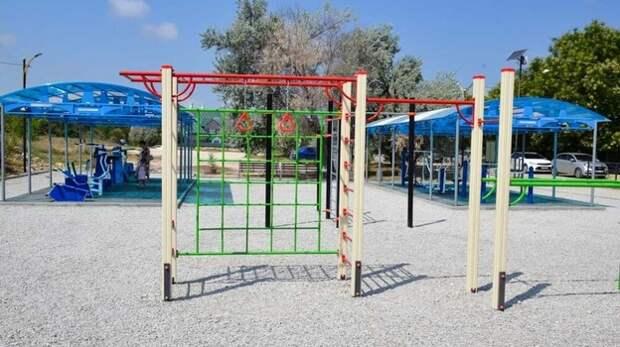 Новейшая спортивная площадка открылась в Черноморском районе