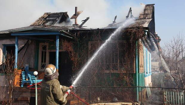 Дачный дом загорелся в СНТ «Надежда» в Подольске