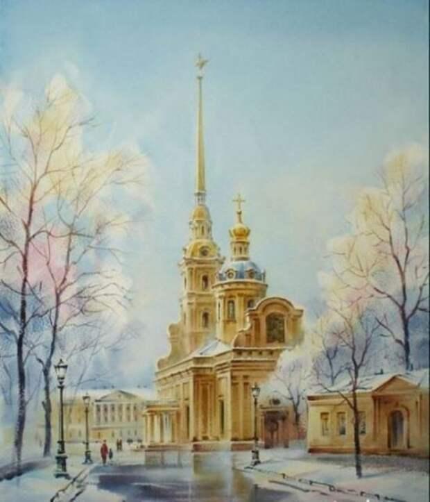 художник Константин Кузема акварель картины - 29
