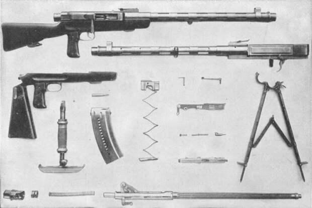 Швейцарские ручные пулеметы — откроется дверца, и вылетит гильза