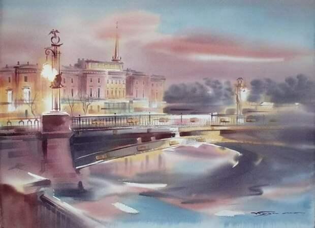 художник Константин Кузема акварель картины - 07