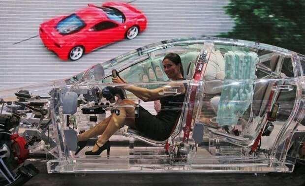 5. Прозрачный автомобиль авто, автомобили будущего, уникальные автомобили