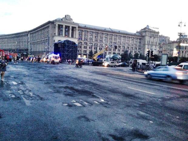 Уборка на Майдане завершена