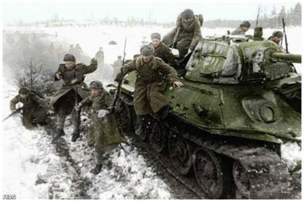 Удивительные цветные фото солдат Великой Отечественной