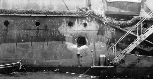 Цусима – Российский флаг продолжал развеваться над крейсером