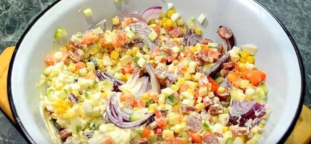 вкусный салат ассорти на зиму