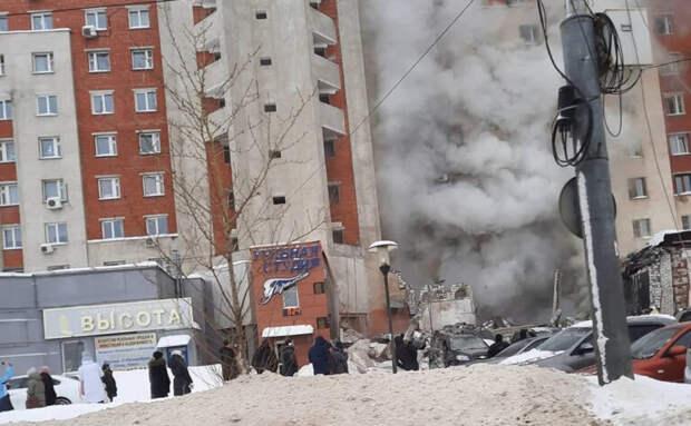 Под завалами дома вНижнем Новгороде находятся два человека