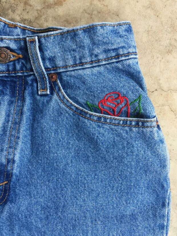 Интересные варианты вышивки по джинсовой ткани, которые сделают вашу вещь уникальной