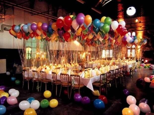 Сервировка стола с шариками (подборка)