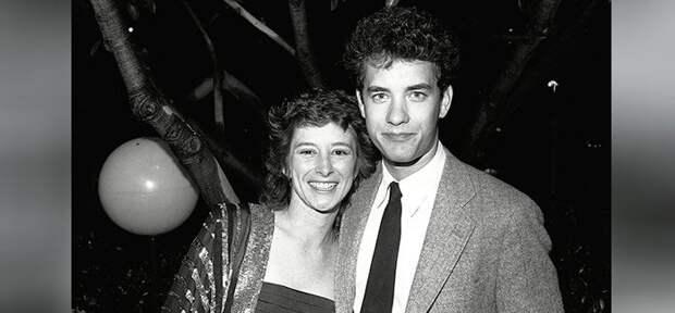 Том Хэнкс с первой женой Самантой Льюис.