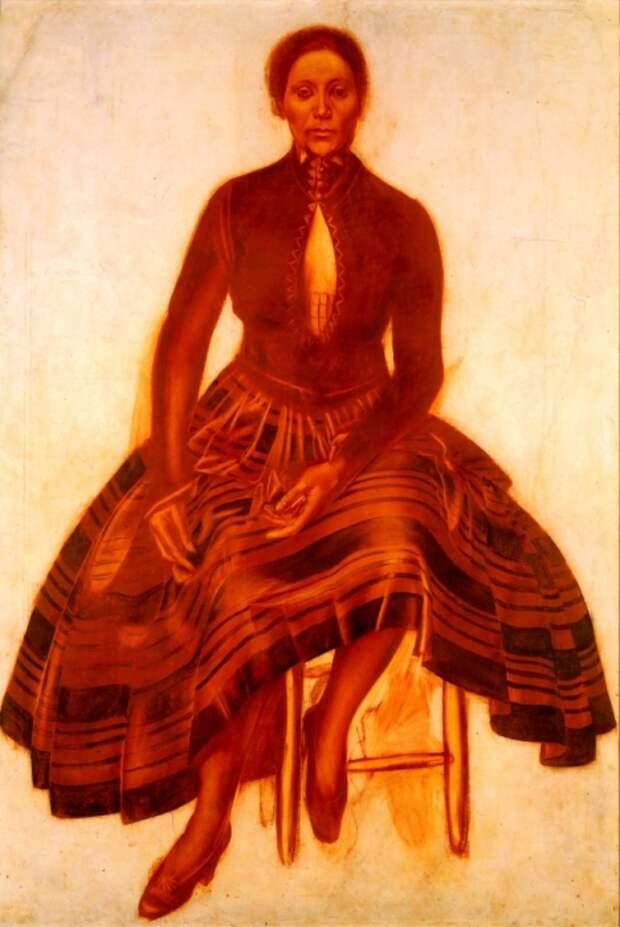 В. Шухаев. Портрет Саломеи Андрониковой-Гальперн . / Фото: www.divo-ra.blogspot.com