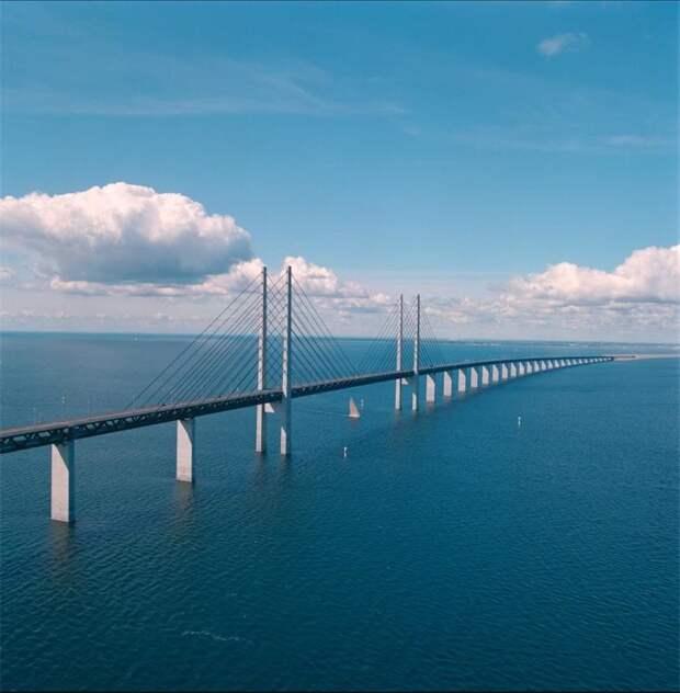 Эресуннский мост - шедевр мостостроения Эресуннский мост, дания, мосты, пролив Эресунн, швеция
