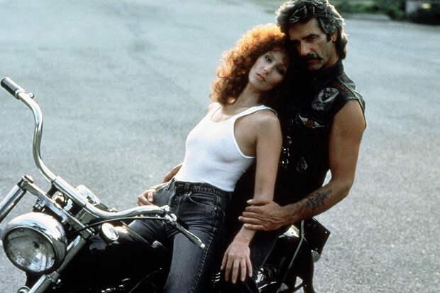 С Сэмом Эллиоттом на сьемках фильма «Маска», 1985 год
