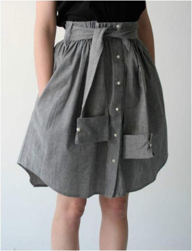 Оригинальная юбка без шитья.