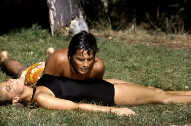 Роми Шнайдер и Ален Делон. Фото / Romy Schneider and Alain Delon photo. La Piscine / Бассейн 1968