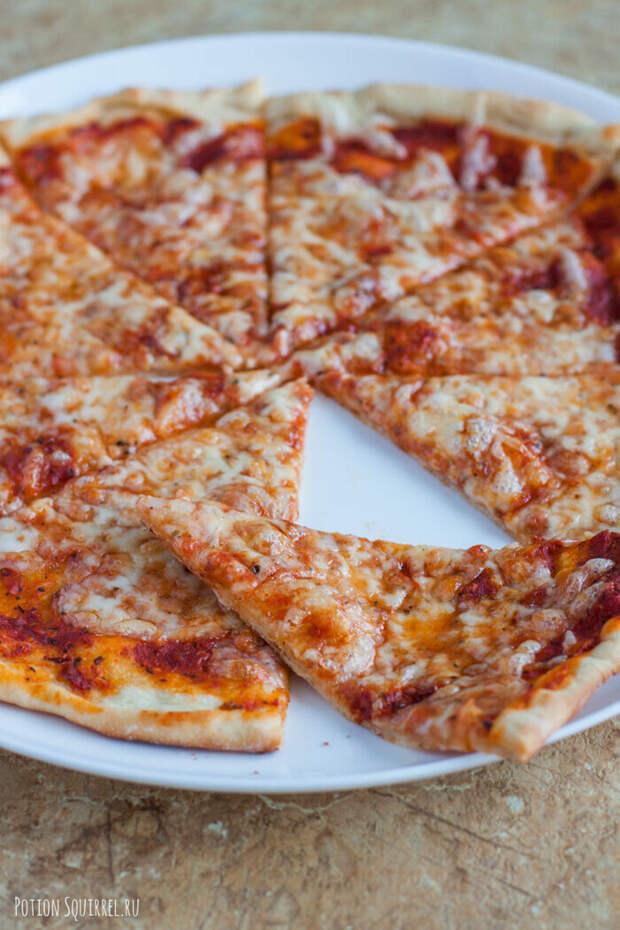 Пицца Маргарита Пицца, Еда, Итальянская кухня, Длиннопост, Рецепт, Кулинария