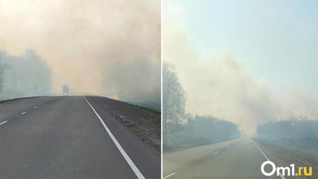 Огонь повсюду, трудно дышать. В Каргатском районе Новосибирской области полыхают леса и поля
