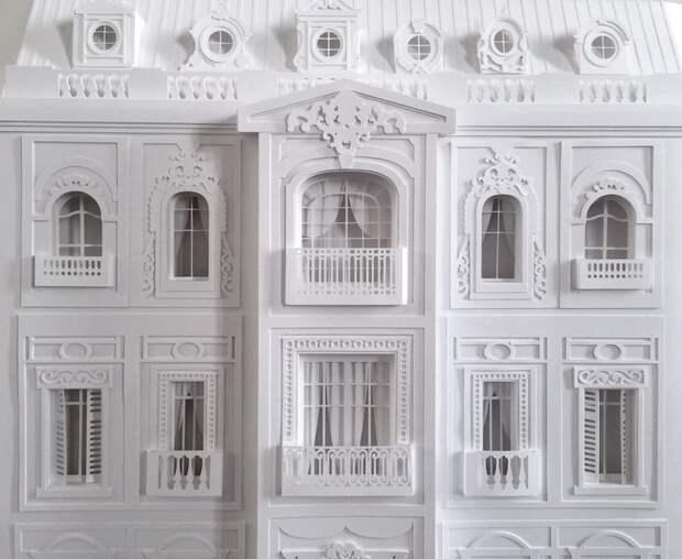 Архитектор строит из бумаги парижские мансарды архитектура, бумажная архитектура, дома из бумаги, искусство, османский стиль, париж, парижские мансарды, творчество