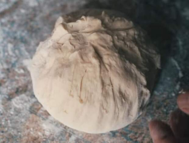 Осетинский пирог с сыром и зеленью осетинский пирог, кулинария, еда, готовим дома, готовим сами, моё, видео, длиннопост