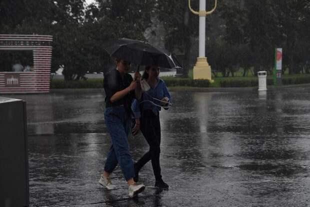 Синоптик Синенков заявил, что в понедельник в Москве ожидаются дожди и грозы