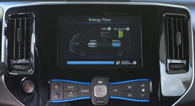 Nissan проводит испытания автомобиля работающего на спирте nissan, электромобиль
