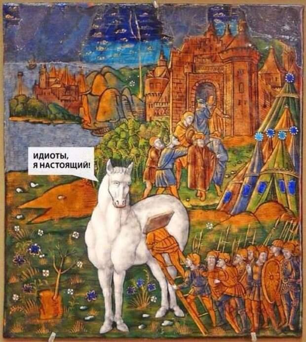 Сумасшедшее средневековье: 15 картин с современными саркастическими подписями
