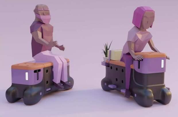 Студенты создали скамейку, которая ездит по городу