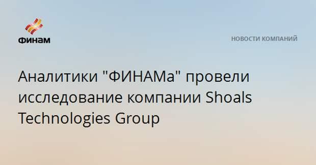 """Аналитики """"ФИНАМа"""" провели исследование компании Shoals Technologies Group"""