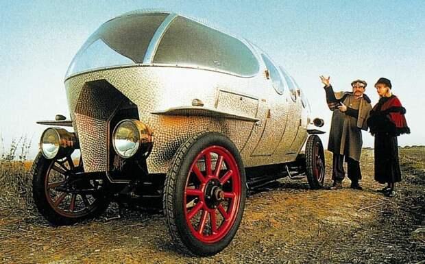 Первая в мире аэродинамическая легковушка Alfa Romeo Aerodinamica с пятиместным кузовом. 1914 год авто, автомобили, атодизайн, дизайн, интересный автомобили, олдтаймер, ретро авто, фургон
