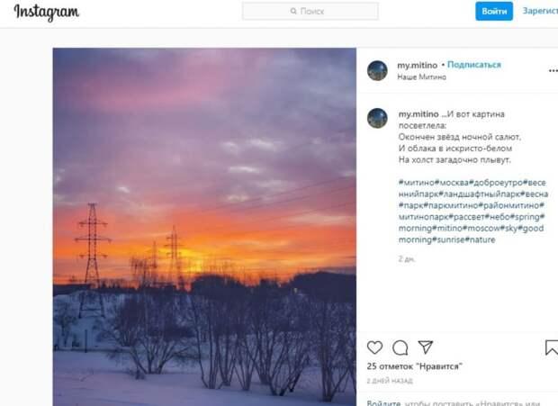 Фото: скриншот записи на странице @my.mitino в Instagram