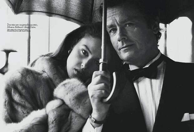 Моника Беллуччи и Ален Делон. фото