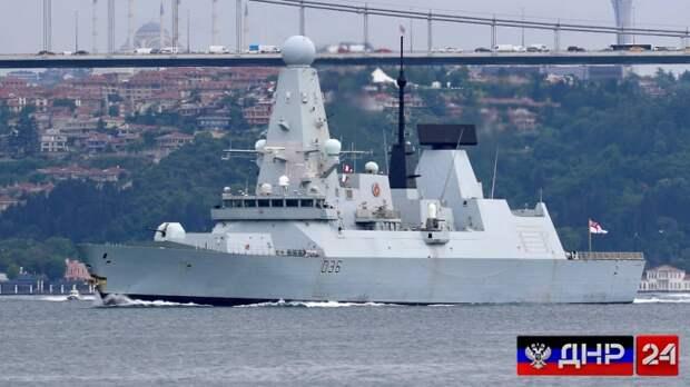 Российский корабль открыл огонь по британскому эсминцу