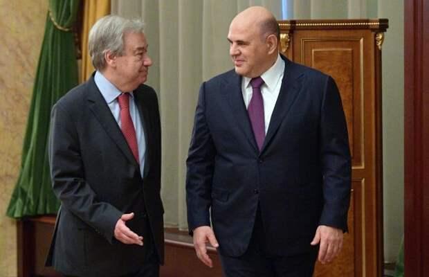 Мишустин призвал отказаться от односторонних санкций