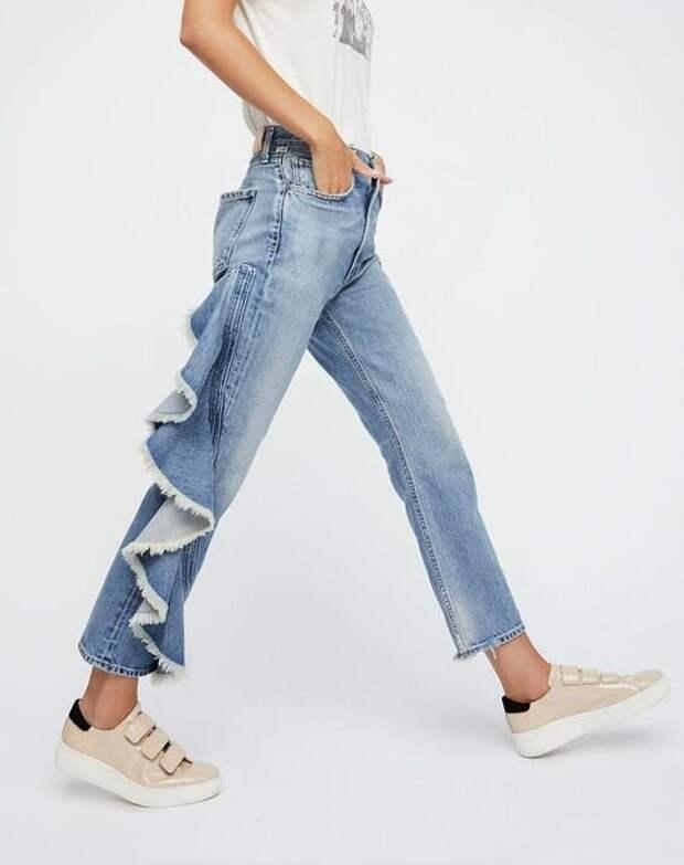 Модные направления в отделке джинсов