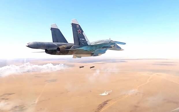 ВКС наносят бомбовые удары по лагерям сирийских боевиков, которые направлялись в Карабах