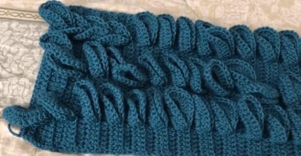 Снуд с объемными косами крючком: элементарное вязание с необычной сборкой