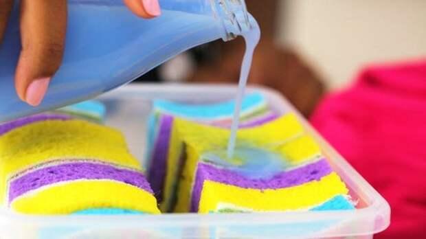 9 лайфхаков с губкой для мытья посуды