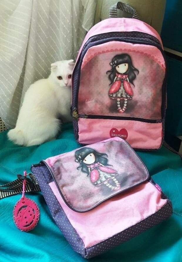 Рюкзак, сумка и кошелек Santoro London Gorjuss