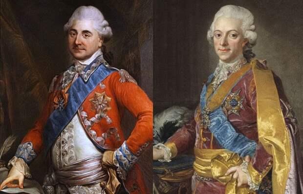 Короли Станислав II Август (слева) и Густав III