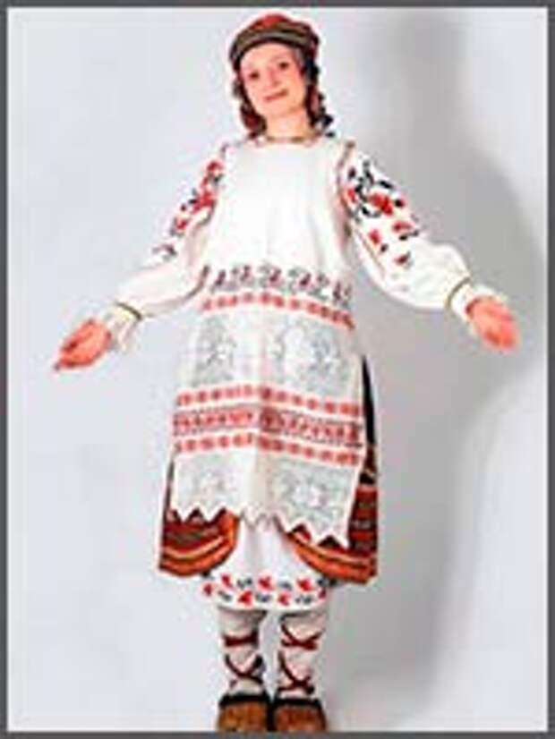 Женский праздничный костюм. Брянская обл. из коллекции С. Глебушкина