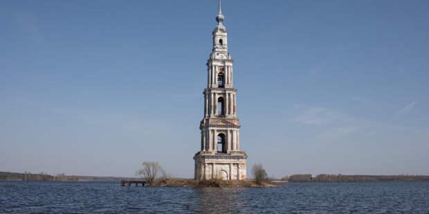 Затопленную колокольню Никольского собора в Калязине отреставрируют
