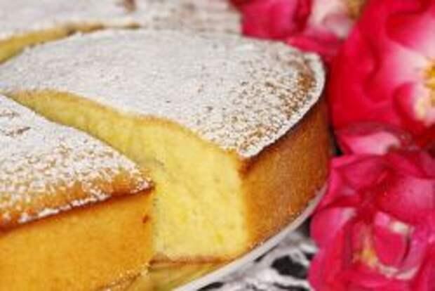 бисквит на лимонаде с газом