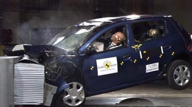 Новые Dacia Sandero и Logan не прошли краш-тест Euro NCAP