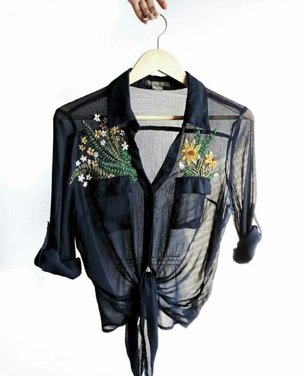 Способ оживить прозрачную блузу