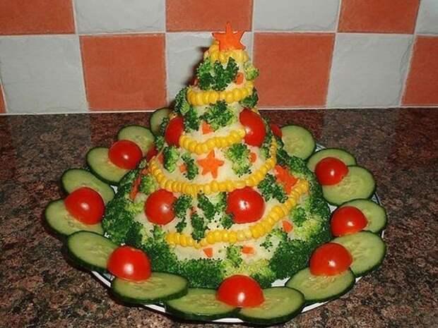 9 рецептов красивых и вкусных салатов к Новому году