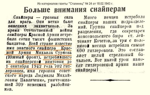 Из материалов фронтовых лет о М. И. Суркове