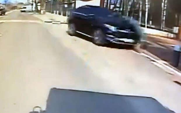Умышленный наезд мажора на курсанта МЧС был снят на видео