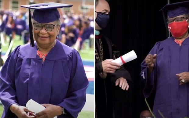 Прабабушка закончила университет в 78 лет. Теперь она хочет стать магистром