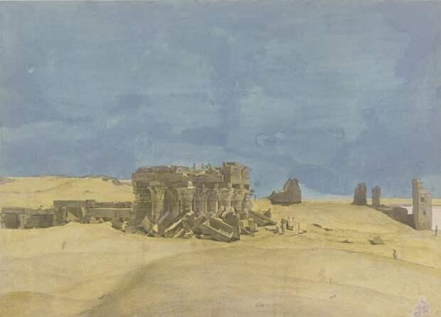 Ком-Омбо. Архитектурные детали и рельефы большого храма