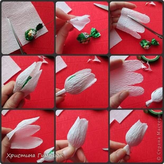 Мастер-класс Свит-дизайн Бумагопластика Цветы  как я их делаю  Бумага гофрированная фото 10